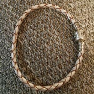 Jewelry - Pandora leather braided bracelet